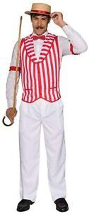 Forum Novelties Barbershop Quartet Vest, Red/White