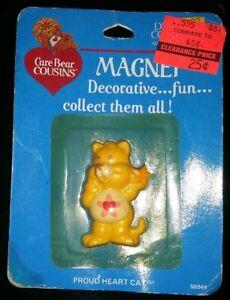 Vintage Care Bear Cousins Proud Heart Cat Keychain