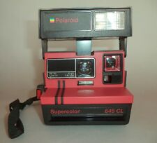 Polaroid 645 CL Supercolor Red. Vintage instant camera. Excellent condition.