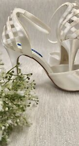 Ivory Wedding Bridesmaid Peep Toe Stiletto Shoes Sizes 3, 4, 5, 6, 7 and 8