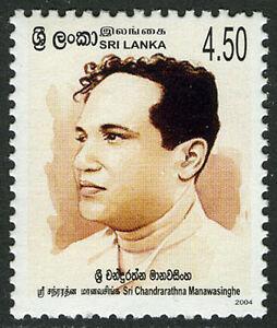 Sri Lanka 1489, MNH. Sri Chandrarathna Manawasinghe, Writer, 2004