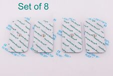 TENS Electrode Pads WITH LARGE 3.9MM STUD Set of 8 By Healthcare World