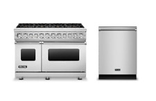 """Viking VDR7488BSS 48"""" Prostyle Dualfuel Range Stainless Steel with Free"""