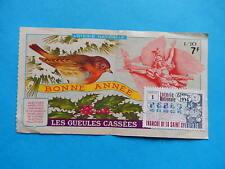 BILLET de LOTERIE ROUGE GORGE ROBIN BIRD OISEAU UCCELLO   1976