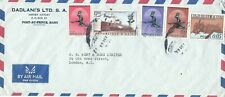 1968 airmail cover Haiti to London with five stamps