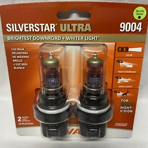 Sylvania Silverstar ULTRA 9004 Pair Set High Performance Headlight 2 Bulbs NEW