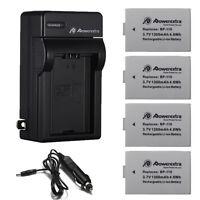 BP-110 Battery + Charger For Canon VIXIA HF R20 HF R200 LEGRIA HF R26 HF R28