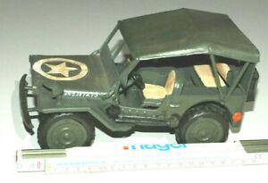 Blechspielzeug US-Jeep Spielzeug US-Militär  Antikspielzeug Auto US-Armee  Blech