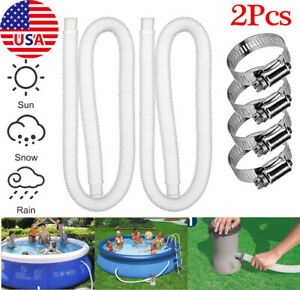 """2Pack Pool Pump Replacement Hose 1.25"""" Diameter 59"""" Long for Above Ground Pools"""