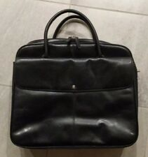 Womens BOSCA Italy Vintage Leather Lawyer Doctor Attache Briefcase Bag