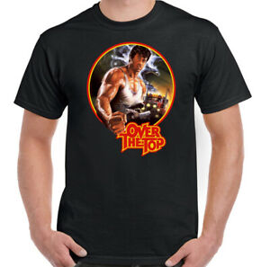 OVER THE TOP T-SHIRT Mens Movie Film Sylvester Stallone Sly Rocky Rambo Tee Top