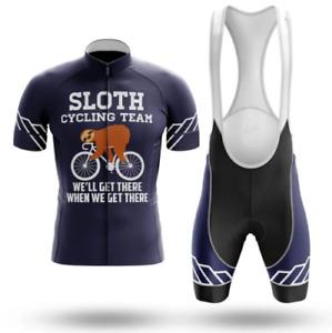 Sloth Cycling Jersey Team Novelty MTB Bike Racing Kit