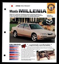 Mazda Millenia (Japan 1993-Now) Spec Sheet 1998 HOT CARS Dream Machines #2.71