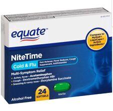 2x Equate NiteTime Cold & Flu Multi-Symptom Relief Softgels 24 ct Damaged boxes