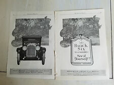 1924 Buick Automobile Six Car is a Wonder See It Yourself Two Page Original Ad