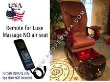 LCD massage remote control for Luxe Lux spa tech No air seat pedicure spa chair