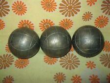 Lot x3 Anciennes BOULES LYONNAISES 945 Sport-Boule Pétanque Doublette Triplette