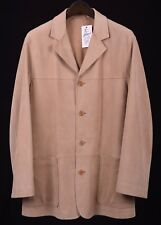 NEW Ermenegildo Zegna Tan Brown Soft Smooth Leather Jacket Coat Eu 52 US 42 / L