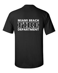 MIAMI BEACH FIRE DEPARTMENT T SHIRT - AMERICAN FIRE & RESCUE