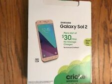 Brand NEW Cricket Wireless Samsung Galaxy Sol 2 16GB Prepaid Smartphone - GOLD