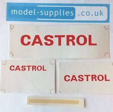 Dinky 450 Bedford TK Box Van Castrol Reproduction Stickers Set