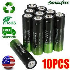 10 Pack Skywolfeye Batteries 3.7v Li-ion Rechargeable Battery For Led Flashlight