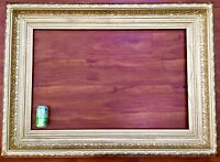 """Antique 1800's Gold WOOD Art Painting Cove French Picture Frame Baroque 38X25"""""""