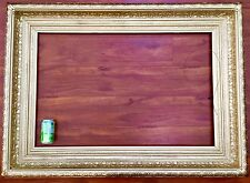 Antique Gold WOOD Art Picture Painting Cove Frame Baroque Hudson River Mirror