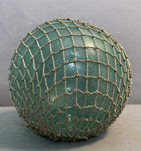 Vintage AUTHENTIC Alaska MARITIME SALVAGE Old JAPANESE FISH NET Glass FLOAT BALL