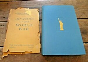 RARE! Memories of the World War by Major General Robert Alexander Personal Copy