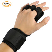 Men Women Fitness Gloves Weight Lifting Gym Workout Training Wrist Wrap Strap