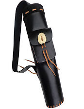 HANDMADE FINISHED  LEATHER BACK ARROW QUIVER ARCHERY PRODUCTS AQ172.