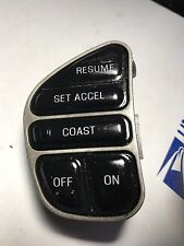 LINCOLN FORD MERCURY STEERING CRUISE CONTROL SWITCH SILVER TRIM 3W1F-18C844-AA