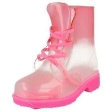 Scarpe rosa di gomma con lacci per bambine dai 2 ai 16 anni
