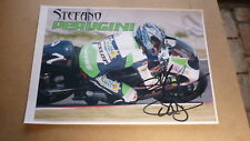 MOTOR CYCLE RACING STAR STEFANO PERUGINI HAND SIGNED 8x11 MOTO GP RACING PHOTO