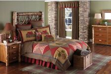 3Pc Cabin California Luxury King Quilt Quilt Bed Set/Bedding Package/ Park Desig