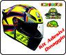 Casco integrale moto Agv K1 Valentino Rossi Soleluna stickers doppio anello