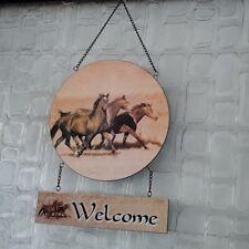 TÜRKRANZ PFERD REITEN Reitstall Stallschild Eingangstüre Welcome Türschild