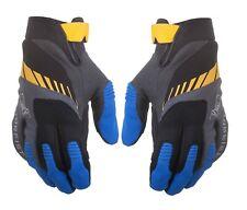 Motorfist Off Road Ranger Gloves Black Blue Yellow Size Large MX ATV Dirt Bike