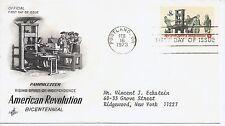 US Scott #1476, First Day Cover 2/16/73 Portland Single American Revolution