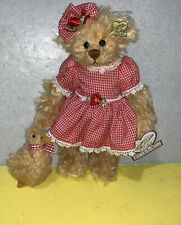 """10"""" Annette Funicello Francis the Bear and Drake the Duck Mohair Pair w/ Tags"""