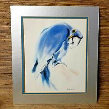 "Vintage Blue Hyacinth Macaw Art Print MEYER GARLEN 10.25 x 12"" Watercolor Print"