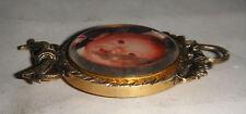 VINTAGE Antico Oro 18ct su 925 ARGENTO foto lutto Medaglione cornice stile vittoriano