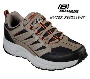 Mens Sketchers Walking Hiking Trail Work Leather Memory Foam Trainers Shoes Size