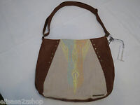 O'Neill womens juniors purse handbag tote bag Cognac brown RARE NWT 9847400^^