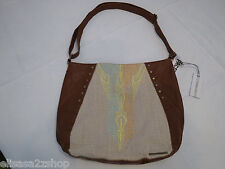 O'Neill womens juniors purse handbag tote bag Cognac brown RARE NWT 9847400^^