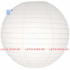 "48 White 8"" Paper Chinese Lantern Lamp Shade Wedding Party Decoration Supplies"