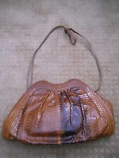 "VINTAGE SNAKESKIN HANDBAG 8 1/2"" TALL 13"" WIDE"