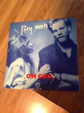 "Boy Meets Girl ""Oh Girl Picture Sleeve 45 RPM Record Promo NM"