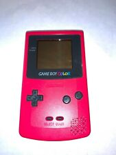 Strawberry Red Game Boy Color System - Nintendo Gameboy Looks good Works GREAT!